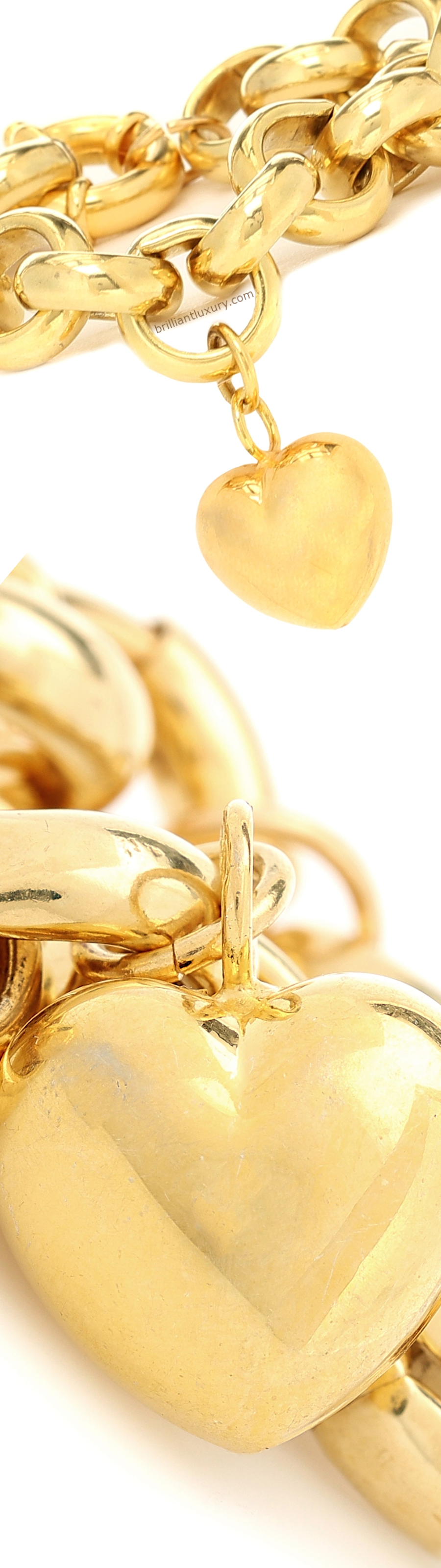Timeless Pearly gold-plated bracelet with heart charm #jewelry