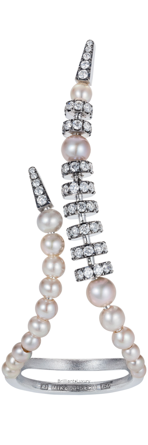 Perla diamond and pearl ring #jewellery #accessories