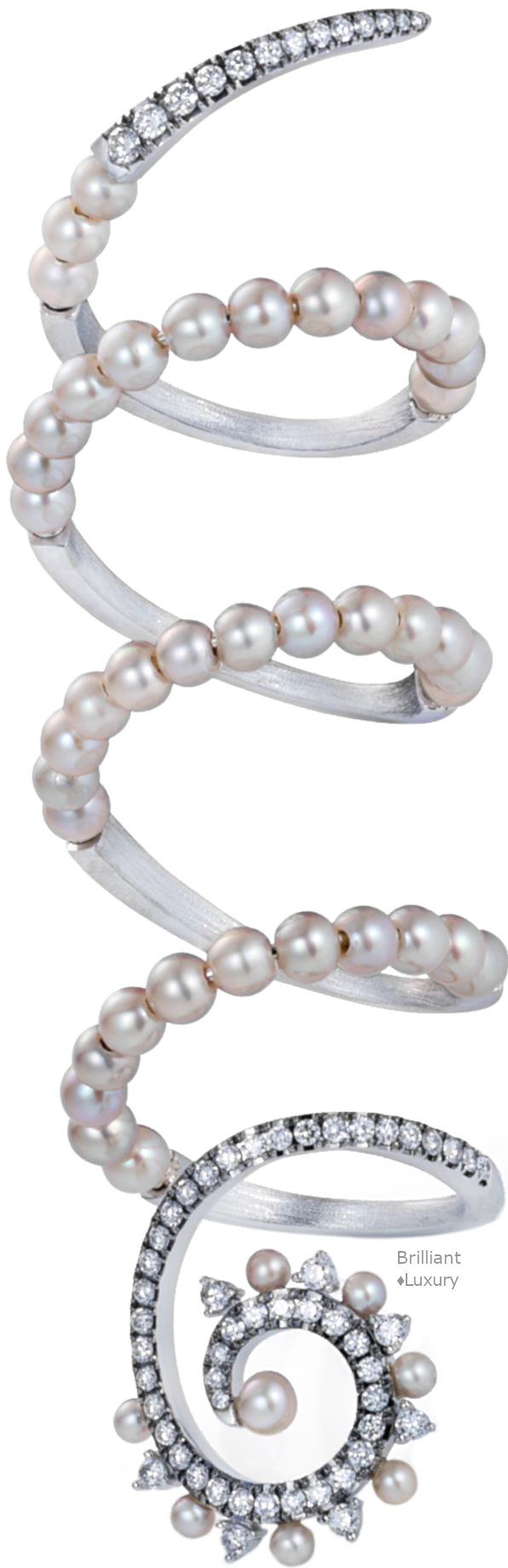 Perla diamond and pearl wrap around ring #jewellery #accessories