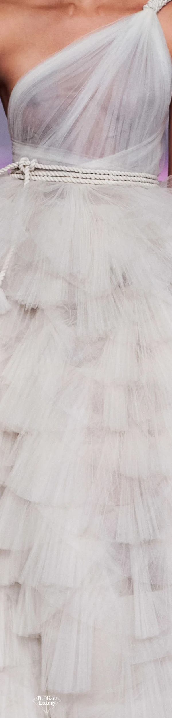 Dior White Tulle Couture Gown Spring 2020 #fashion