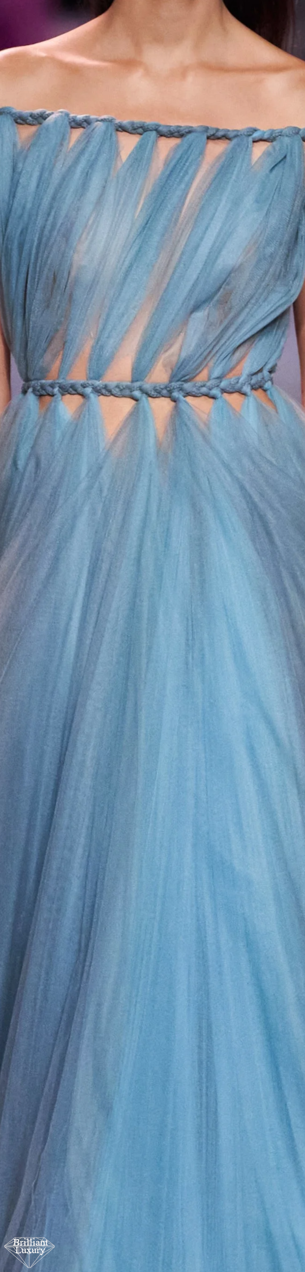 Dior Blue Braided Couture Gown Spring 2020 #fashion