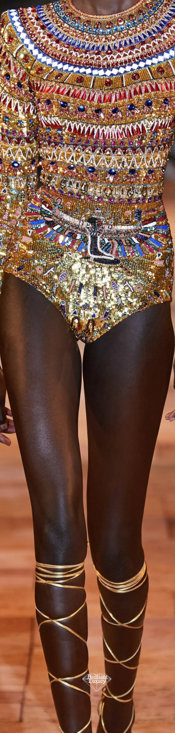 Zuhair Murad Spring 2020 Couture Embroidered Short Jumpsuit #fashion
