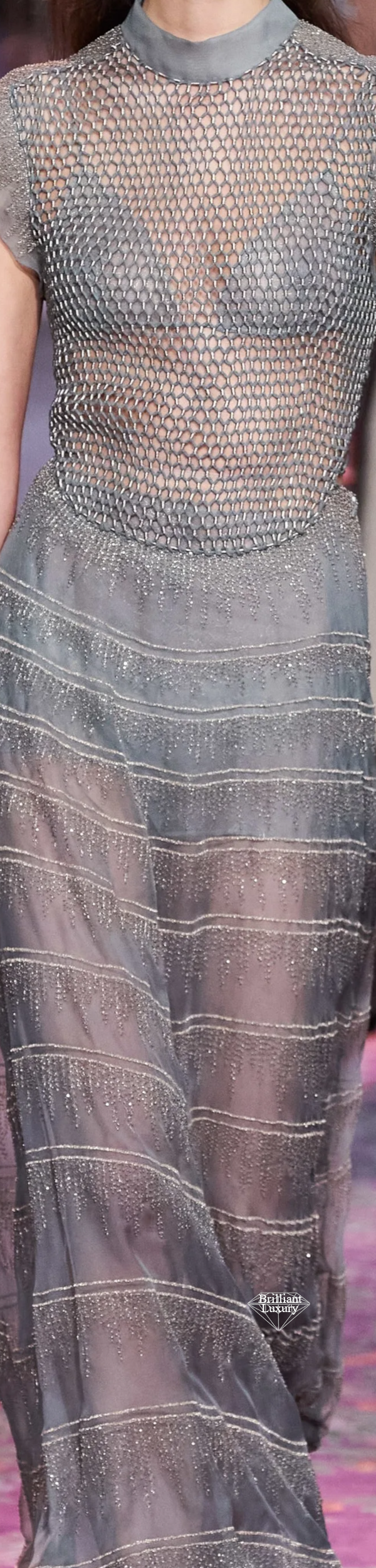 Dior Grey Net Couture Gown Spring 2020 #fashion