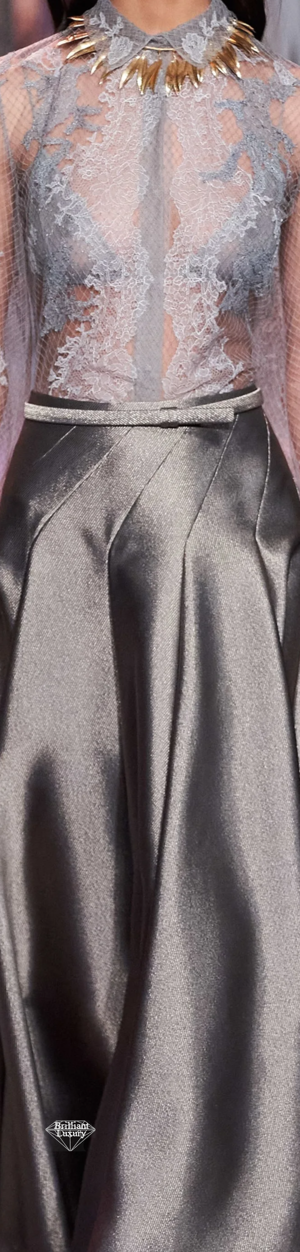Dior Grey Satin Couture Gown Spring 2020 #fashion