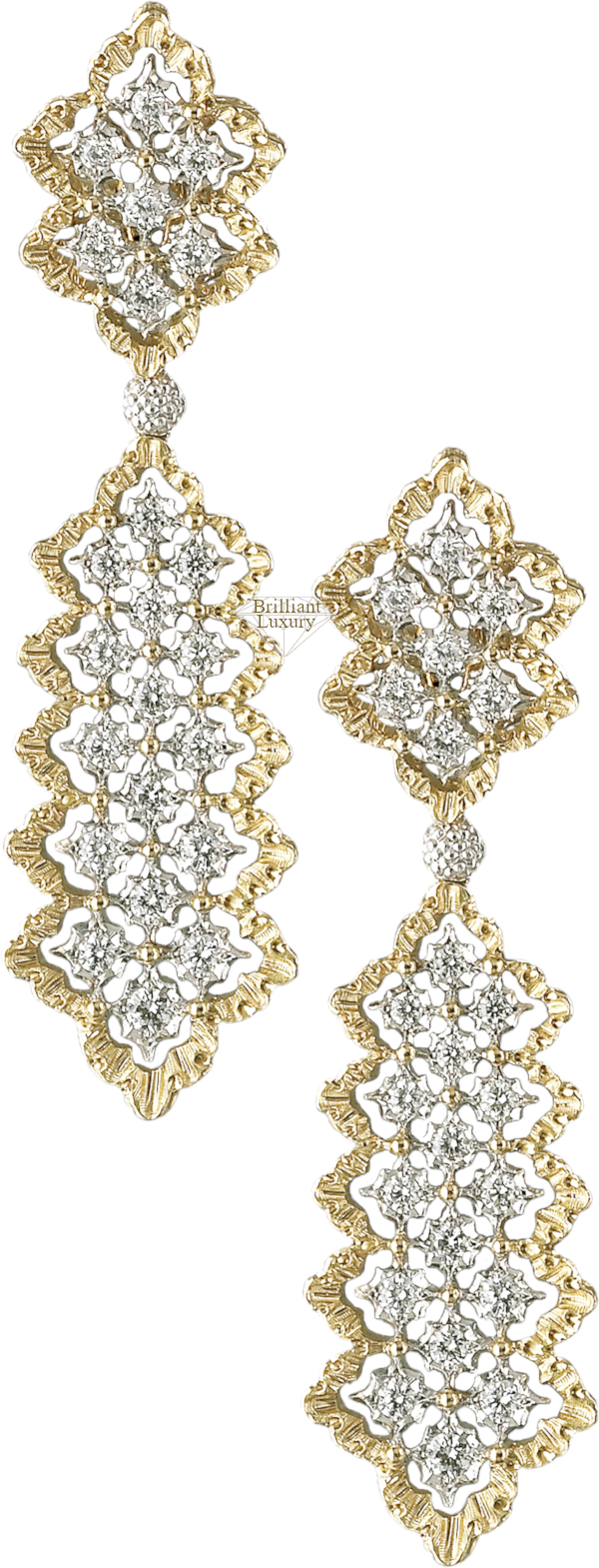 Buccellati Rombi Pendant Earrings #brilliantluxury
