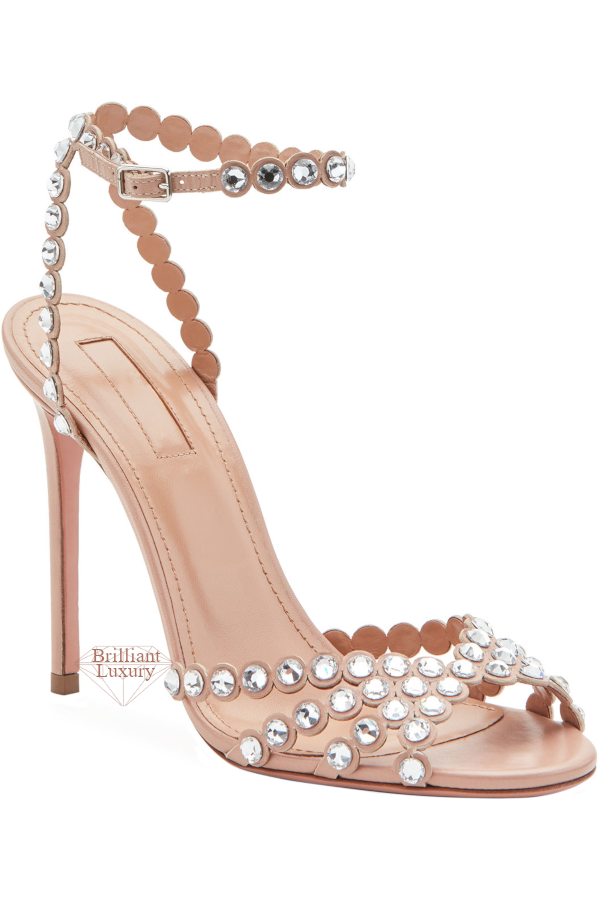 Aquazzura Tequila Embellished High Sandals