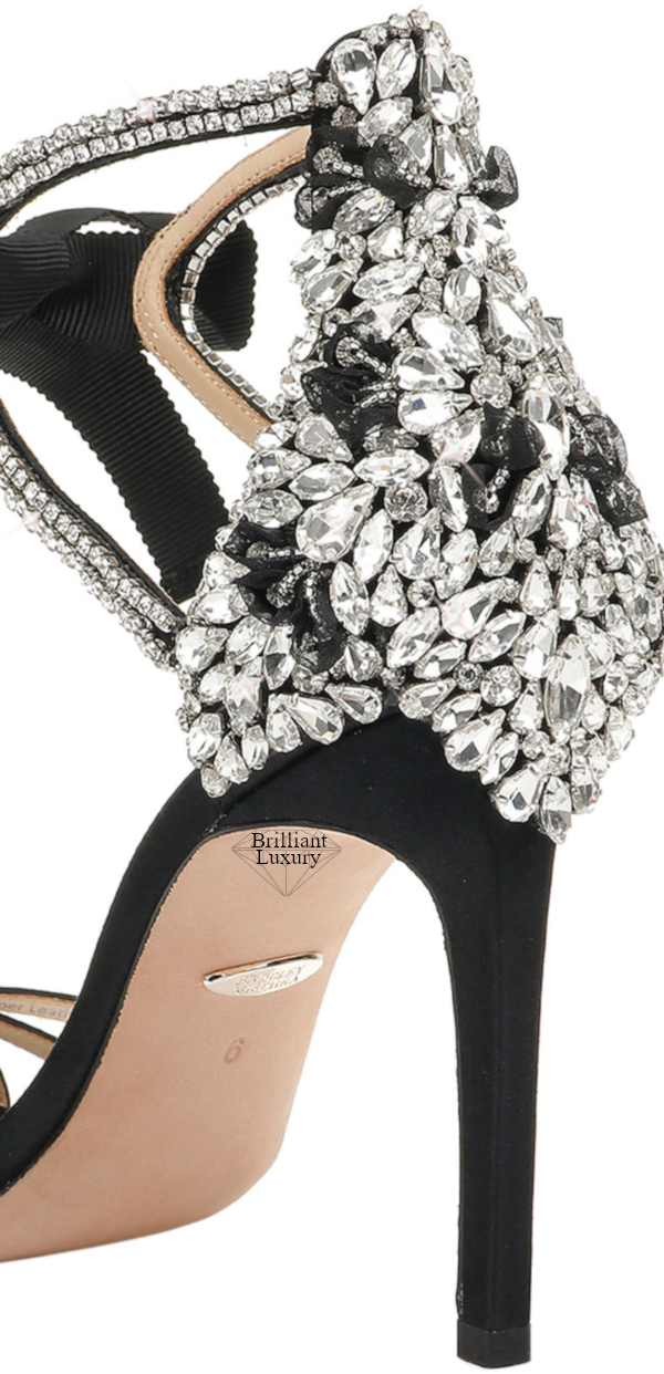 Badgley Mischka Joanie Bejeweled High-Heel Sandals