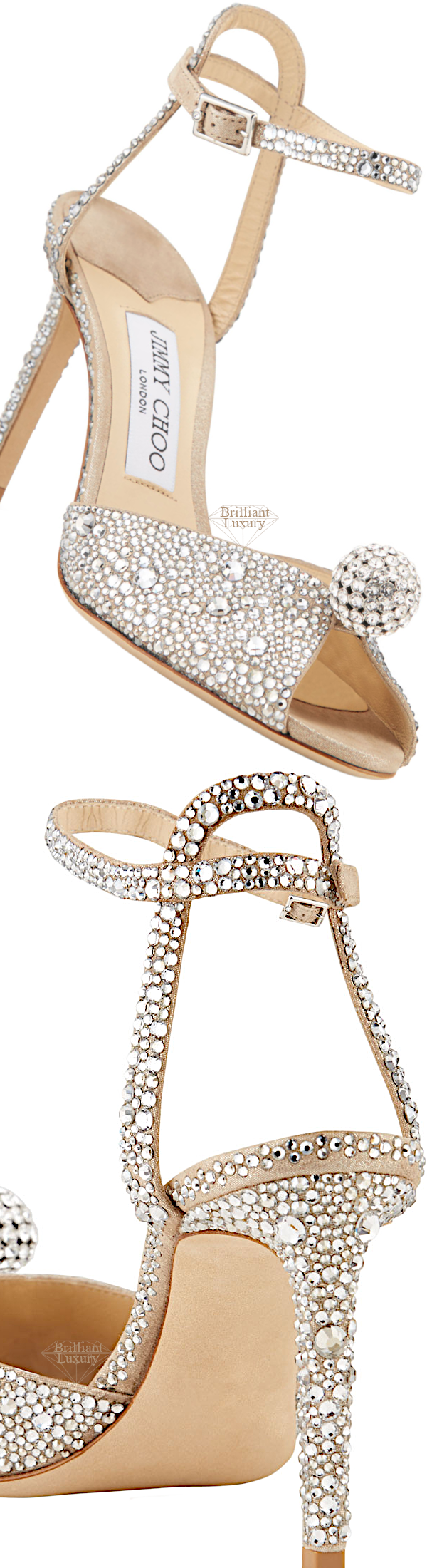 Shoe Collection Spring 2020 Jimmy Choo Sacora Embellished Bejeweled Satin Cocktail Sandals