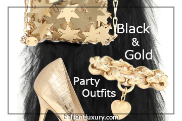 Black & Gold Party Outfits #brilliantluxury