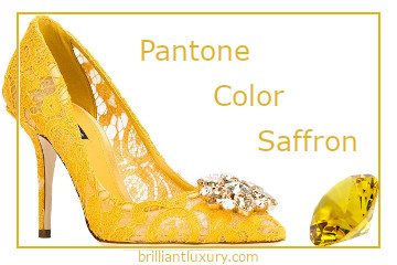 Pantone Color Saffron #brilliantluxury