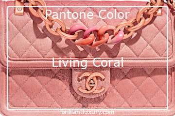 Pantone Fashion Color Living Coral #brilliantluxury