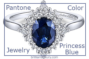 Pantone Fashion Color Princess Blue Jewelry #brilliantluxury