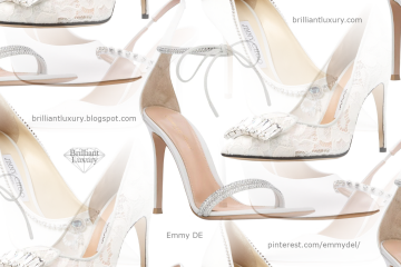 White Bridal Shoes #brilliantluxury