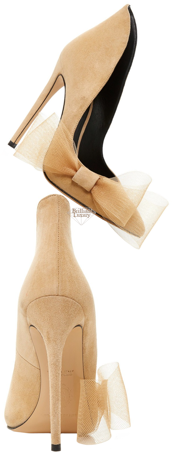 Aleksander Siradekian beige Roza bow pump #brilliantluxury