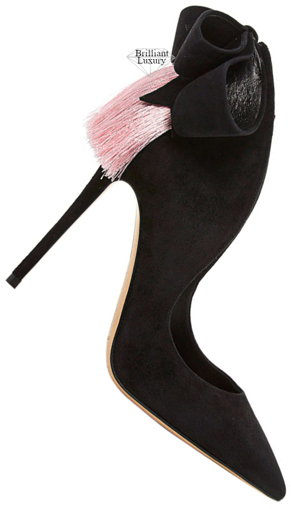 Aleksander Siradekian black Louisa bow pump #brilliantluxury