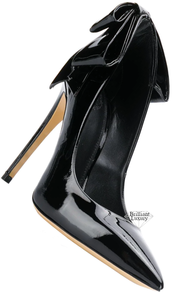 Aleksander Siradekian black bow detail pump #brilliantluxury