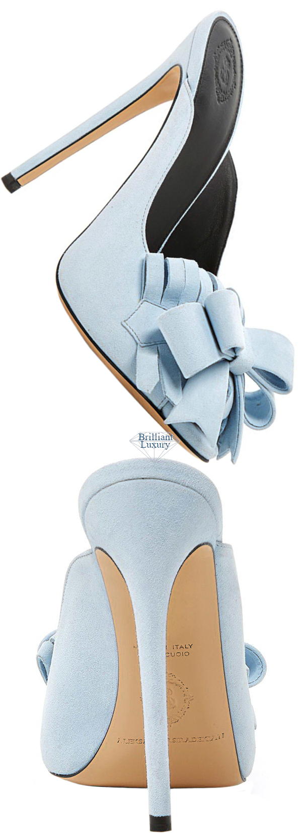 Aleksander Siradekian blue Claridge Muelle bow sandal #brilliantluxury