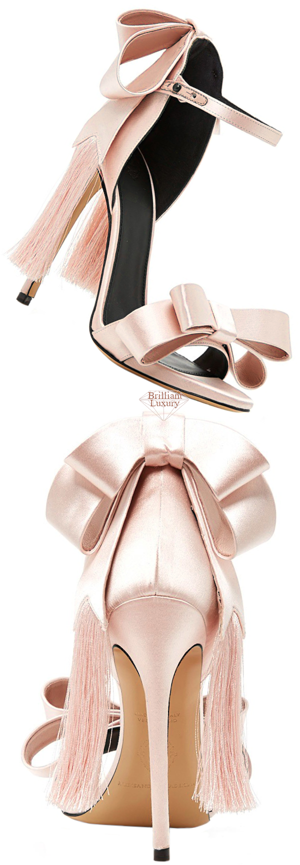 pink Adriana bow sandal #brilliantluxury