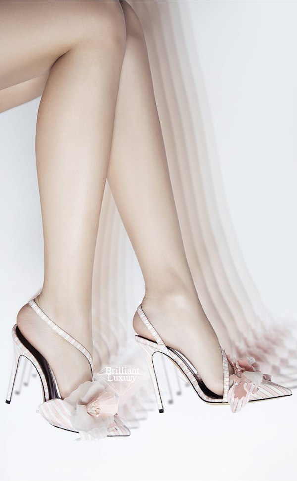 pink and white striped sandal #brilliantluxury