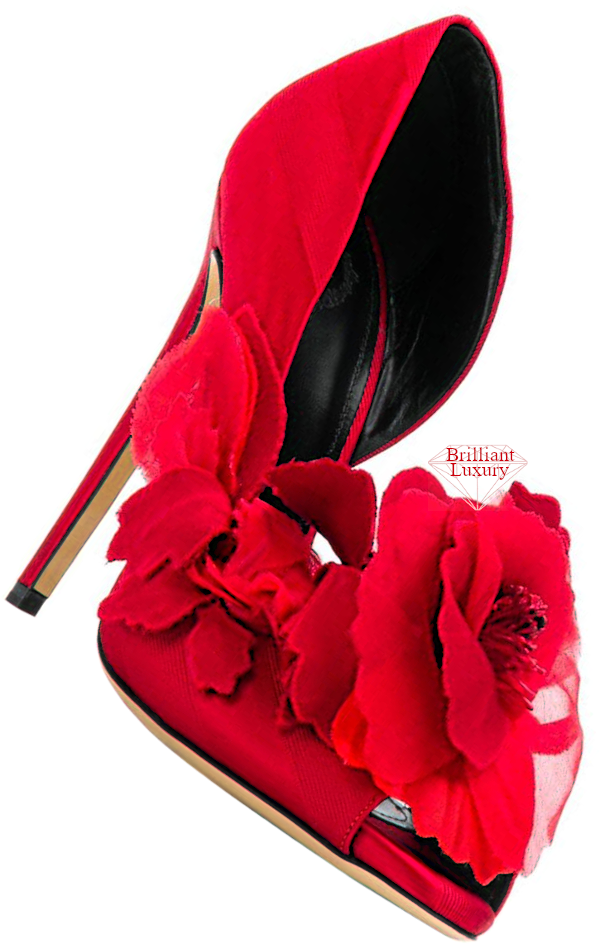 Aleksander Siradekian red Sofra pump #brilliantluxury
