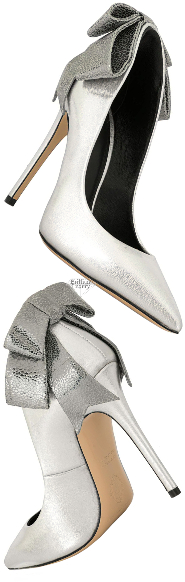 silver Gherda bow pump #brilliantluxury