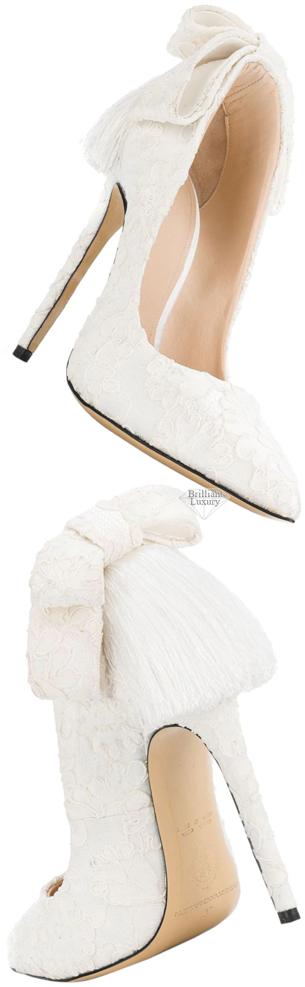white Izo bow pump #brilliantluxury