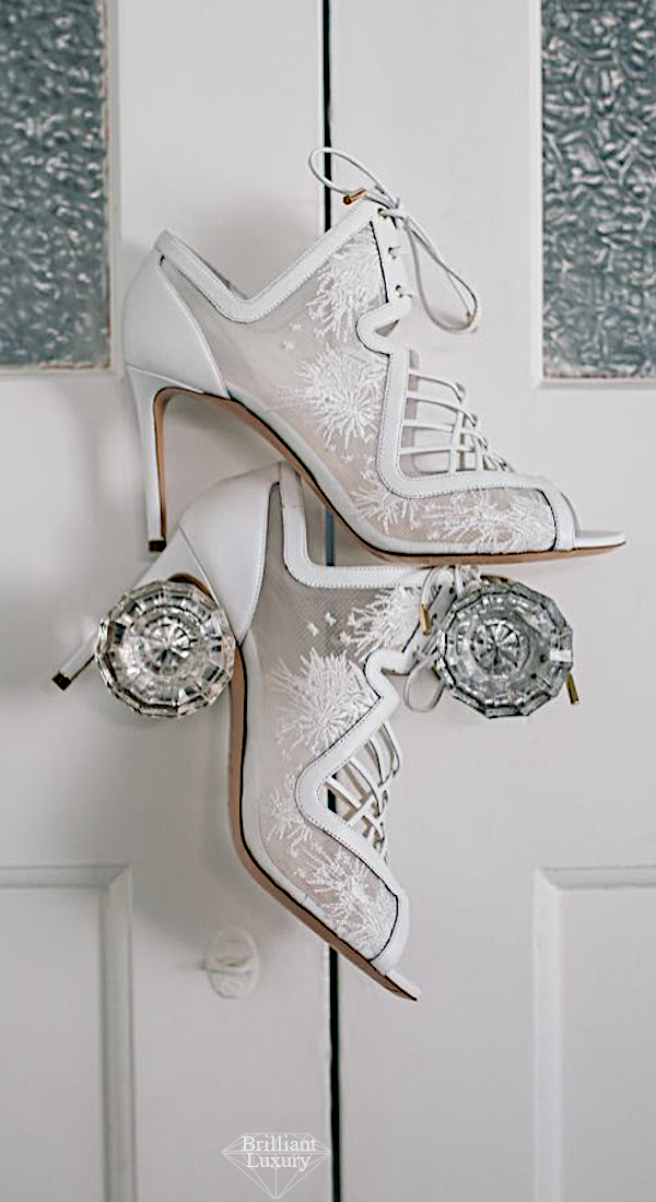 Nicholas Kirkwood White Bridal Booties #brilliantluxury