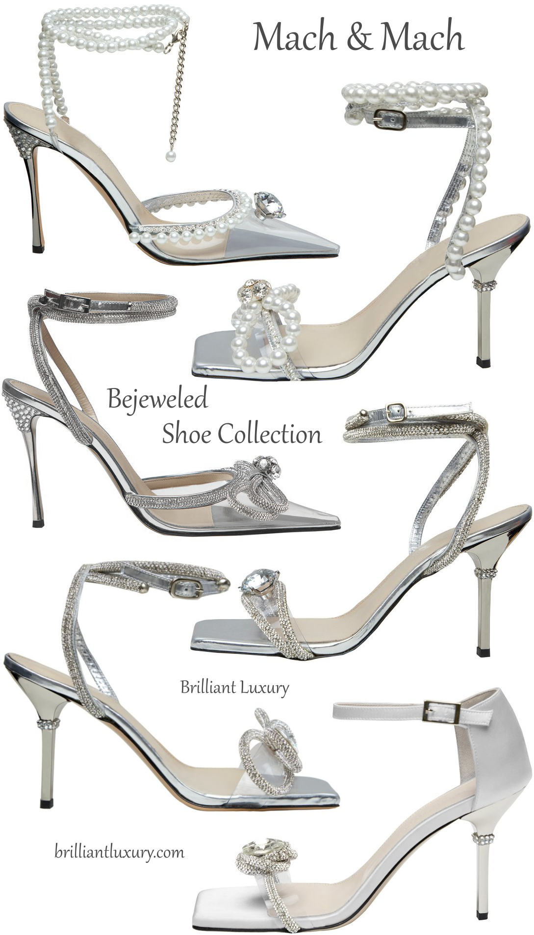 Mach & Mach bejeweled evening shoes #brilliantluxury