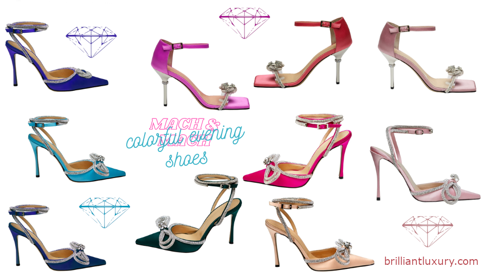 Mach & Mach Colorful Evening Shoes #brilliantluxury
