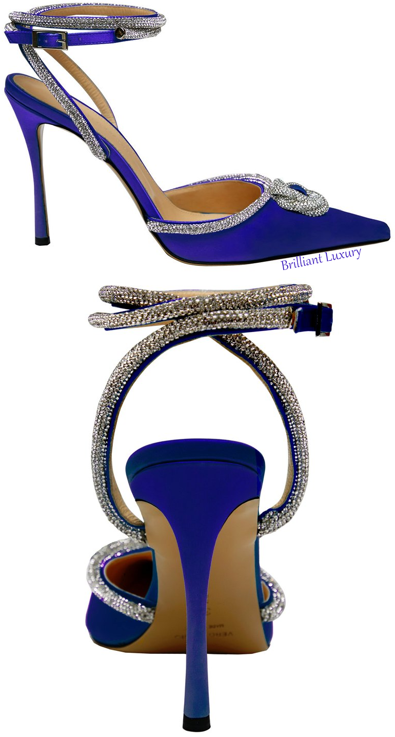 Mach & Mach blue crystal satin pump #brilliantluxury