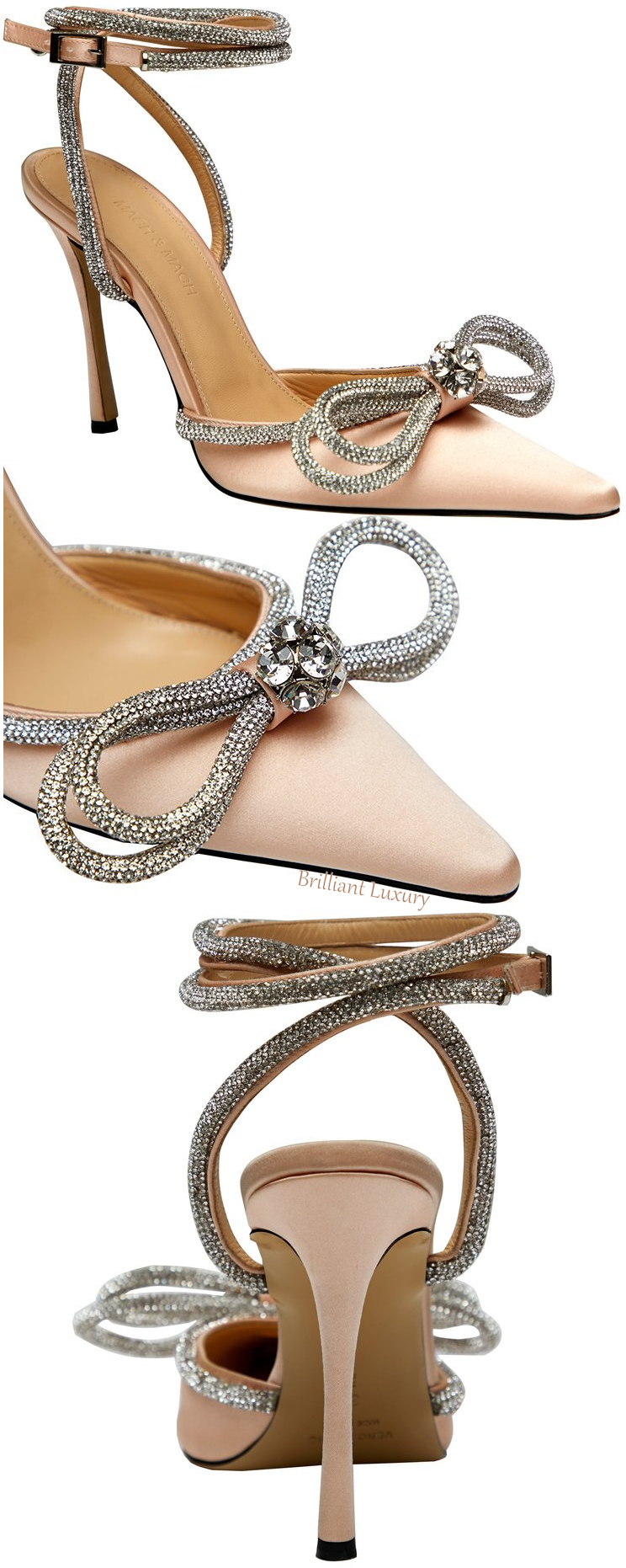 Mach & Mach neutral crystal double bow pump #brilliantluxury